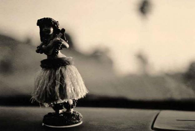 Fille hula pour tableau de bord
