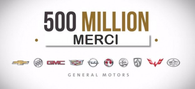 500 million véhicules GM