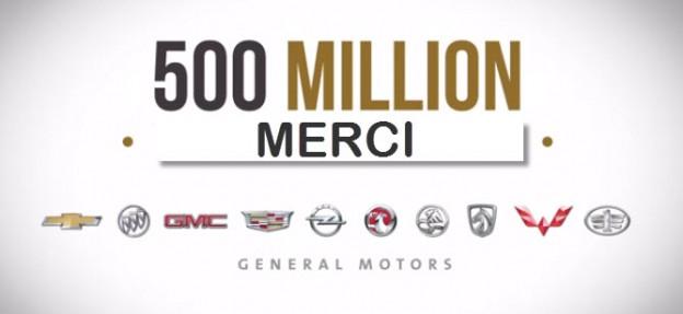 500 million véhicules GM